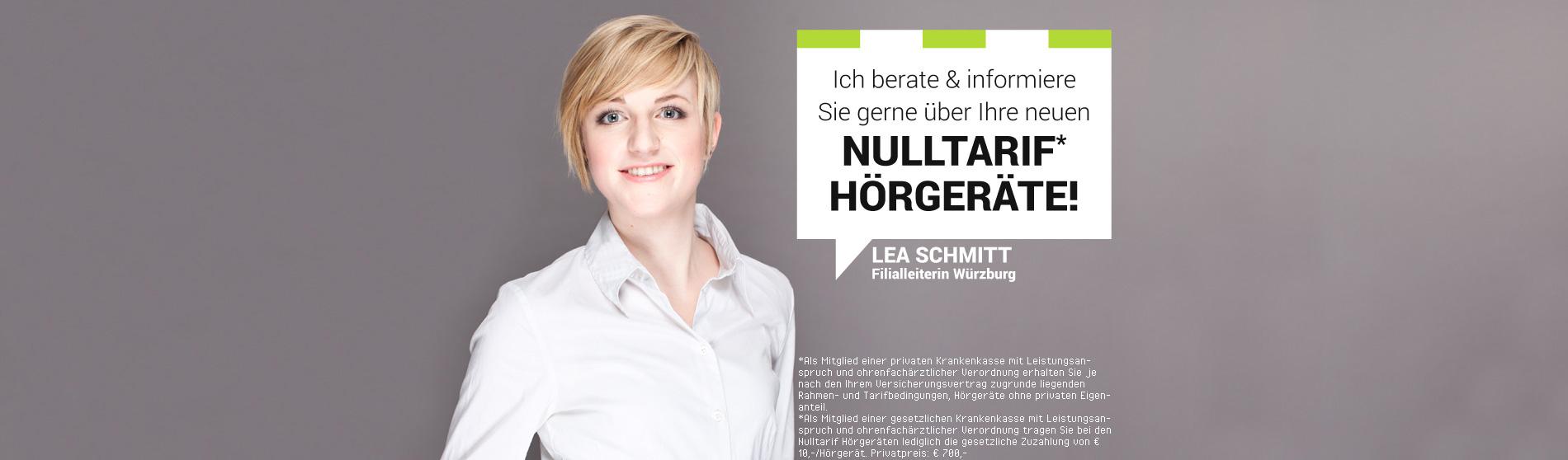 Nulltarif* Hörgeräte Lea Schmitt Sliderbild