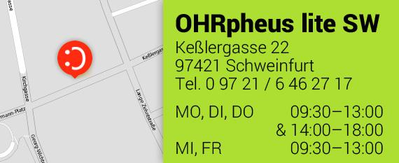OHRpheus lite Hörgeräte ohne Zuzahlung* Schweinfurt Homepage Teaser