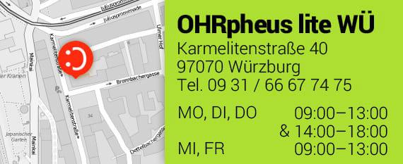 OHRpheus lite Hörgeräte ohne Zuzahlung* Würzburg Homepage Teaser