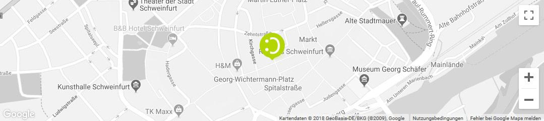 OHRpheus lite Nulltarif* Hörgeräte Schweinfurt Stadtplanbild