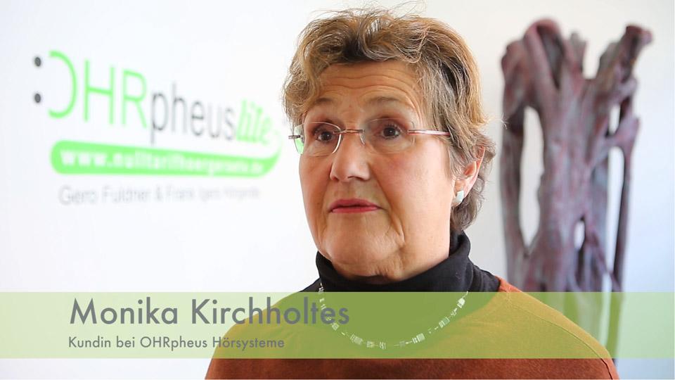 OHRpheus lite Ratgeber Schwerhörigkeit Kundin Monika Kirchholtes Screenshot