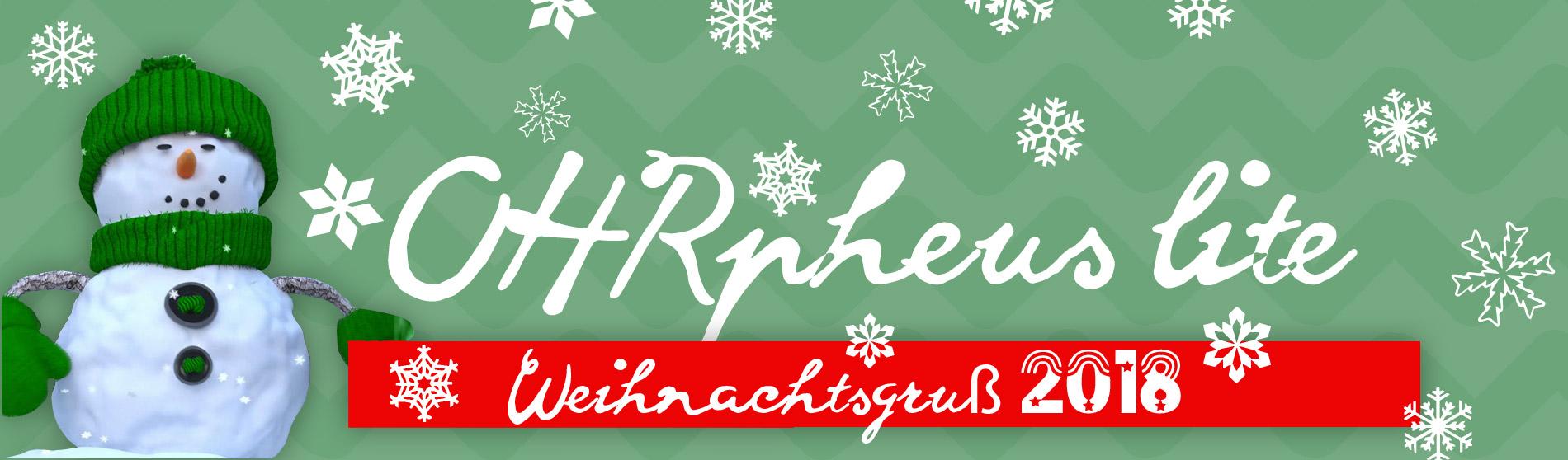 OHRpheus lite Würzburg & Schweinfurt Weihnachtsgruß 2018 Slider