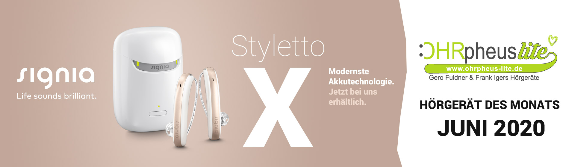 Signia Styletto X Hörgerät Sliderbild
